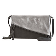 Buy Mint Velvet Emma Asymmetric Leather Clutch Bag, Metallic Online at johnlewis.com