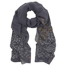 Buy Mint Velvet Steel Animal Stud Scarf, Grey Online at johnlewis.com
