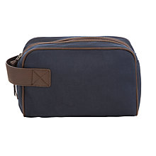 Buy John Lewis Canvas Wash Bag, Navy Online at johnlewis.com