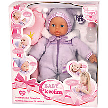 Buy Baby Piccolina Interactive Doll Online at johnlewis.com
