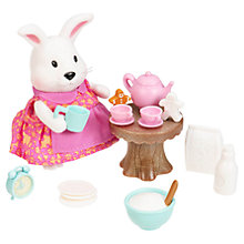 Buy Li'l Woodzeez Rabbit & Tea Set Figure Online at johnlewis.com
