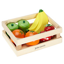 Buy John Lewis Wooden Fruit Crate Set Online at johnlewis.com