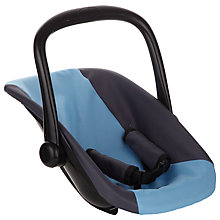Buy John Lewis Baby Doll Car Seat, Grey/Blue Online at johnlewis.com