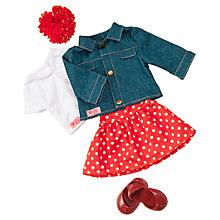 Buy Our Generation Doll Denim Jacket & Skirt Online at johnlewis.com