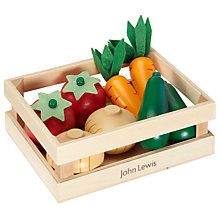 Buy John Lewis Wooden Vegetable Crate Set Online at johnlewis.com