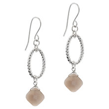 Buy Claudia Bradby Moonstone Drop Earrings, Grey Online at johnlewis.com