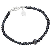 Buy Claudia Bradby Spinel and Labradorite Bead Bracelet, Black Online at johnlewis.com