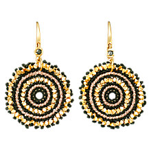 Buy Astley Clarke Large Calypso Drop Earrings, Gold/Black Online at johnlewis.com