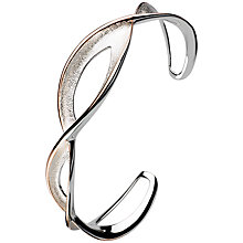 Buy Kit Heath Sterling Silver Twist Cuff, Silver / Rose Gold Online at johnlewis.com