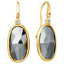 Buy Astley Clarke Cassini Hematite Drop Earrings, Gold Online at johnlewis.com