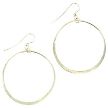 Buy Made Malaondi Hoop Earrings, Silver Online at johnlewis.com