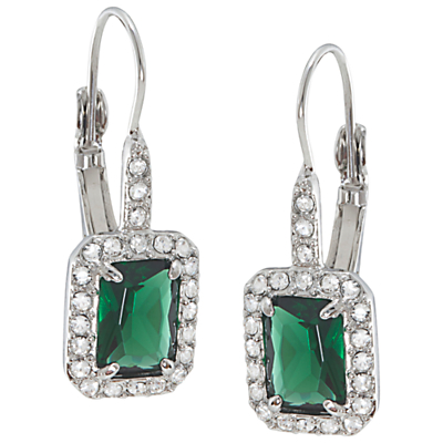 Carolee Simply Emerald Drop Pierced Earrings Green