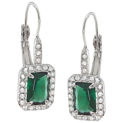 Carolee Simply Emerald Drop Pierced Earrings Green