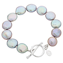 Buy Claudia Bradby Bedruthan Coin Pearl Sterling Silver Bracelet Online at johnlewis.com
