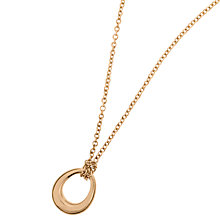 Buy Dinny Hall 22ct Rose Gold Vermeil Toro Small Loop Pendant Necklace, Rose Gold Online at johnlewis.com