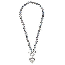 Buy Claudia Bradby Pearl Sterling Silver Heart Charm Necklace, Purple Online at johnlewis.com