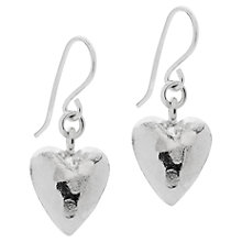 Buy Claudia Bradby Universal Heart Earrings, Silver Online at johnlewis.com
