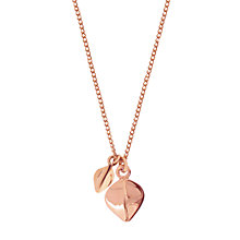 Buy Dinny Hall 22ct Rose Gold Vermeil Tiny & Small Lotus Petal Pendant Necklace, Rose Gold Online at johnlewis.com