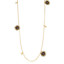 Buy Astley Clarke 18ct Gold Vermeil Long Calypso Woven Nugget Necklace, Gold Online at johnlewis.com