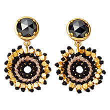 Buy Astley Clarke Calypso Hematite Sonatina Drop Earrings, Black / Gold Online at johnlewis.com
