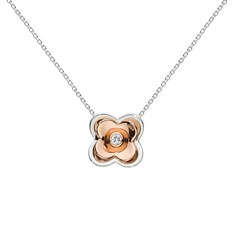 Buy Kit Heath Lavatera Cubic Zirconia Flower Pendant, Rose Gold Online at johnlewis.com