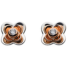 Buy Kit Heath Lavatera Cubic Zirconia Flower Stud Earrings, Rose Gold Online at johnlewis.com