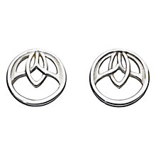 Buy Kit Heath Sterling Silver Lotus Stud Earrings Online at johnlewis.com