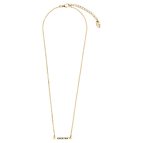 Buy Orelia Cherish Bar Necklace Gift Card Online at johnlewis.com