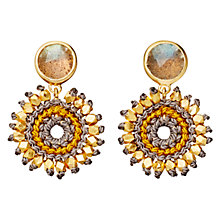 Buy Astley Clarke Biography 18ct Gold Vermeil Sonatina Labradorite Cluster Drop Earrings Online at johnlewis.com