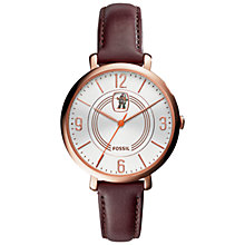 Buy Fossil LE1031 Women's Cin-E-Matic Watch, Brown Online at johnlewis.com