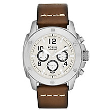 Buy Fossil Men's Modern Machine Chronograph Leather Watch Online at johnlewis.com