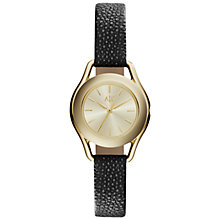Buy Armani Exchange AX4259 Women's Watch, Black / Gold Online at johnlewis.com