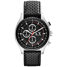 Buy Armani Exchange AX1600 Men's Active Chronograph Watch, Black Online at johnlewis.com