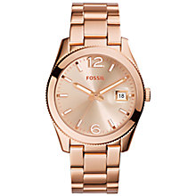 Buy Fossil ES3587 Women's Perfect Boyfriend Bracelet Watch, Rose Gold Online at johnlewis.com