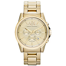 Buy Armani Exchange AX2099 Men's Smart Chronograph Watch, Gold Online at johnlewis.com
