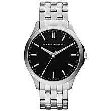 Buy Armani Exchange AX2147 Men's Stainless Steel Watch, Black / Silver Online at johnlewis.com