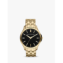 Buy Armani Exchange AX2145 Men's Gold Plated Watch, Black / Gold Online at johnlewis.com