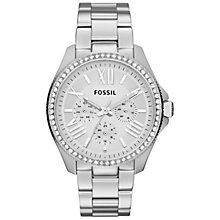 Buy Fossil Women's Cecile Chronograph Round Dial Bracelet Strap Watch Online at johnlewis.com
