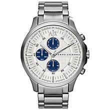 Buy Armani Exchange AX2136 Men's Chronograph Watch, Silver Online at johnlewis.com