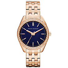 Buy Armani Exchange Ax5511 Women's Rose Gold Plated Bracelet Strap Watch Online at johnlewis.com