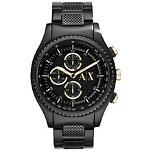 Buy Armani Exchange AX1604 Men's Active Chronograph Watch, Black Online at johnlewis.com