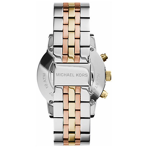 Buy Michael Kors MK5650 Women's Chronograph Mother of Pearl Dial Triple Tone Bracelet Strap Watch, Multi Online at johnlewis.com