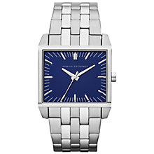 Buy Armani Exchange AX2216 Men's Watch, Blue / Silver Online at johnlewis.com