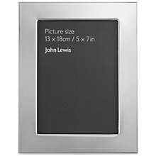 "Buy John Lewis Silver Plated Photo Frame, 5 x 7"" (13 x 18cm) Online at johnlewis.com"