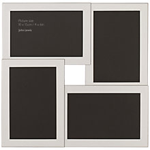 Buy John Lewis Silver Plated Multi-Aperture Frame, 4 Photo Online at johnlewis.com