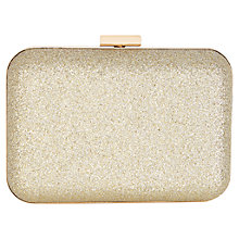 Buy Warehouse Sparkle Hard Clutch Bag, Gold Online at johnlewis.com