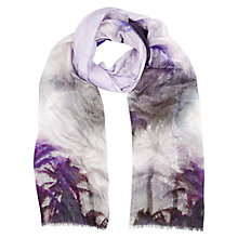 Buy Kaliko Green Palm Print Scarf, Green/Multi Online at johnlewis.com