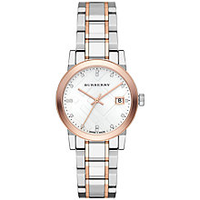Buy Burberry Women's The City Diamond Dial Bracelet Strap Watch Online at johnlewis.com