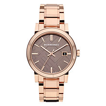 Buy Burberry BY9228 Women's The City Steel Bracelet Strap Watch, Rose Gold Online at johnlewis.com