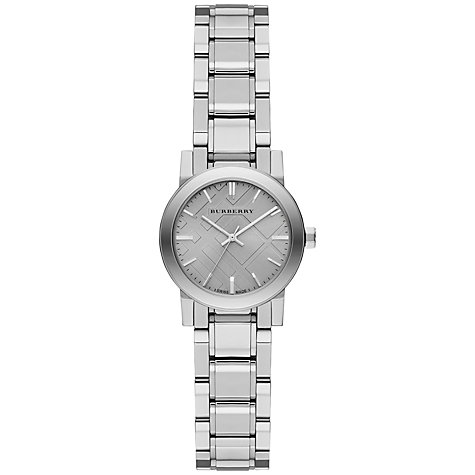 Buy Burberry BU9229 Women's The City Steel Bracelet Strap Watch, Grey Online at johnlewis.com